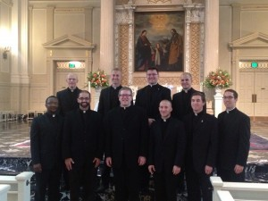 Diocese of Joliet seminarians with Fr. Robert Barron, Rector, Mundelein Seminary.